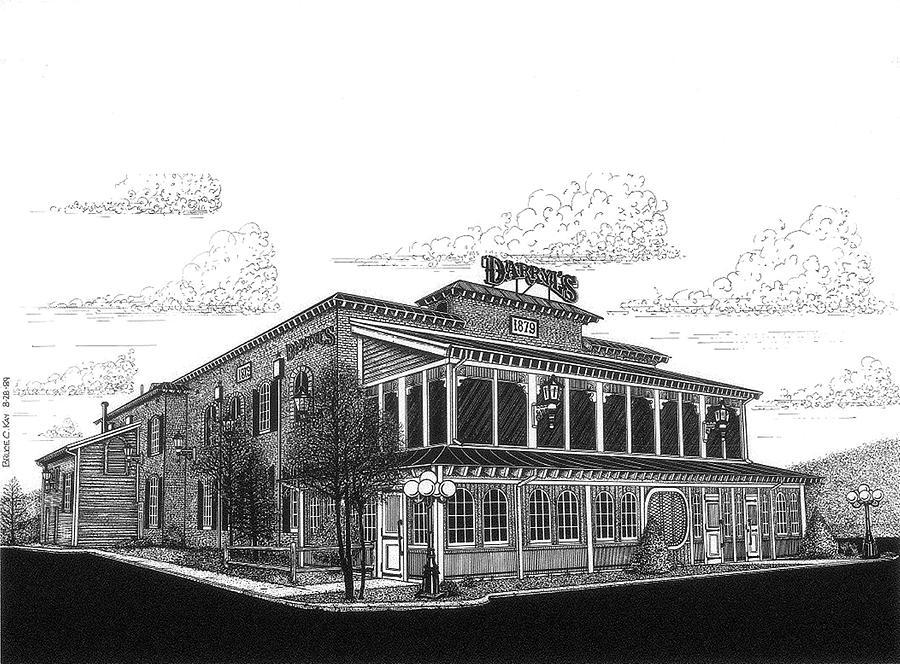 Darryls Restaurant Drawing