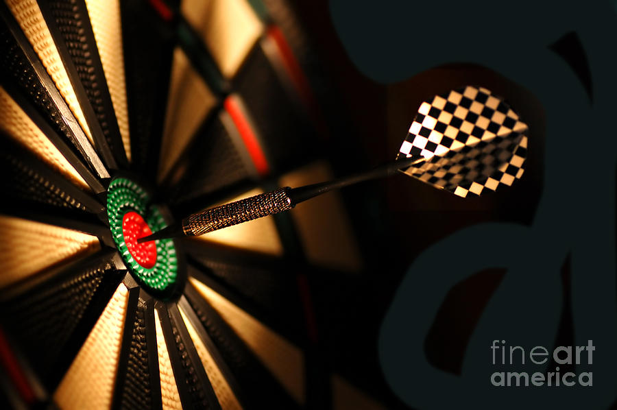 Dart Board In Bar Photograph