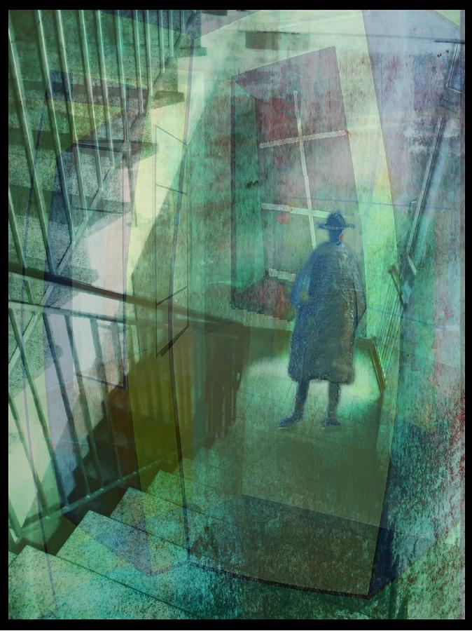 Raumirritation Digital Art - Das Fenster Zum Flur  A by Gertrude Scheffler