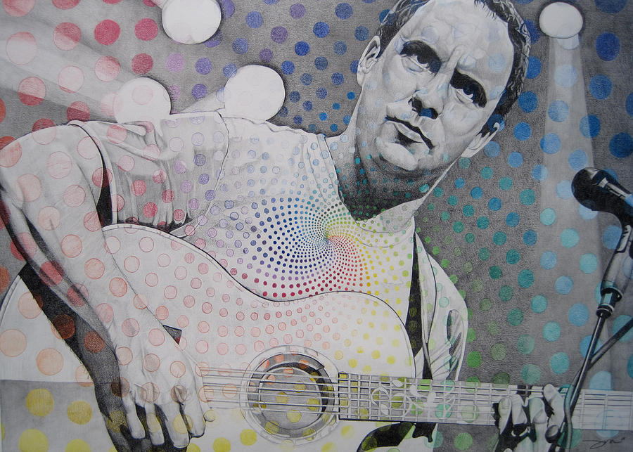 Dave Matthews All The Colors Mix Together Drawing
