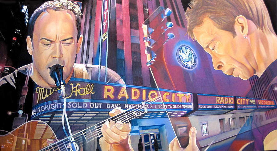 Dave Matthews And Tim Reynolds At Radio City Drawing