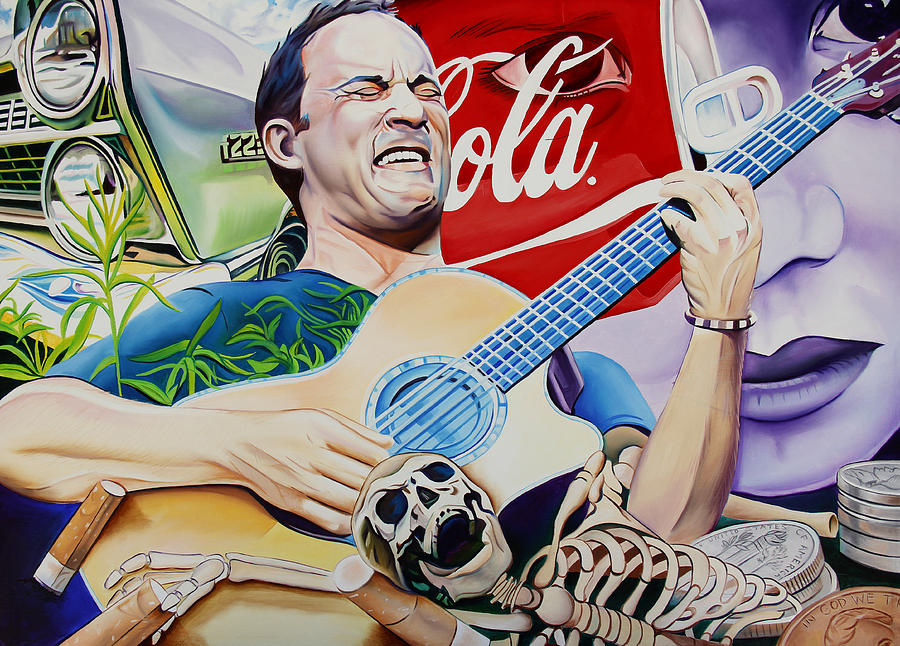 Dave Matthews Seek Up Painting  - Dave Matthews Seek Up Fine Art Print