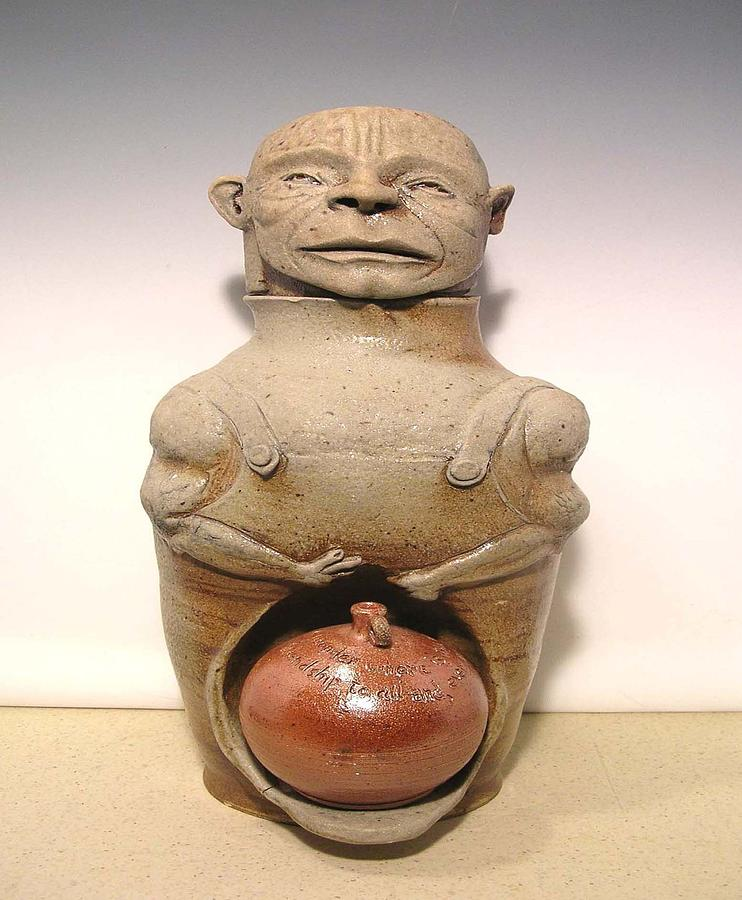 Sculpture Ceramic Art - Dave The Slave Potter Drake by David Mack