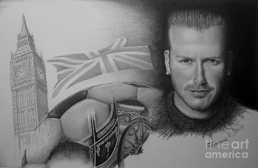 David Beckham Drawing  - David Beckham Fine Art Print