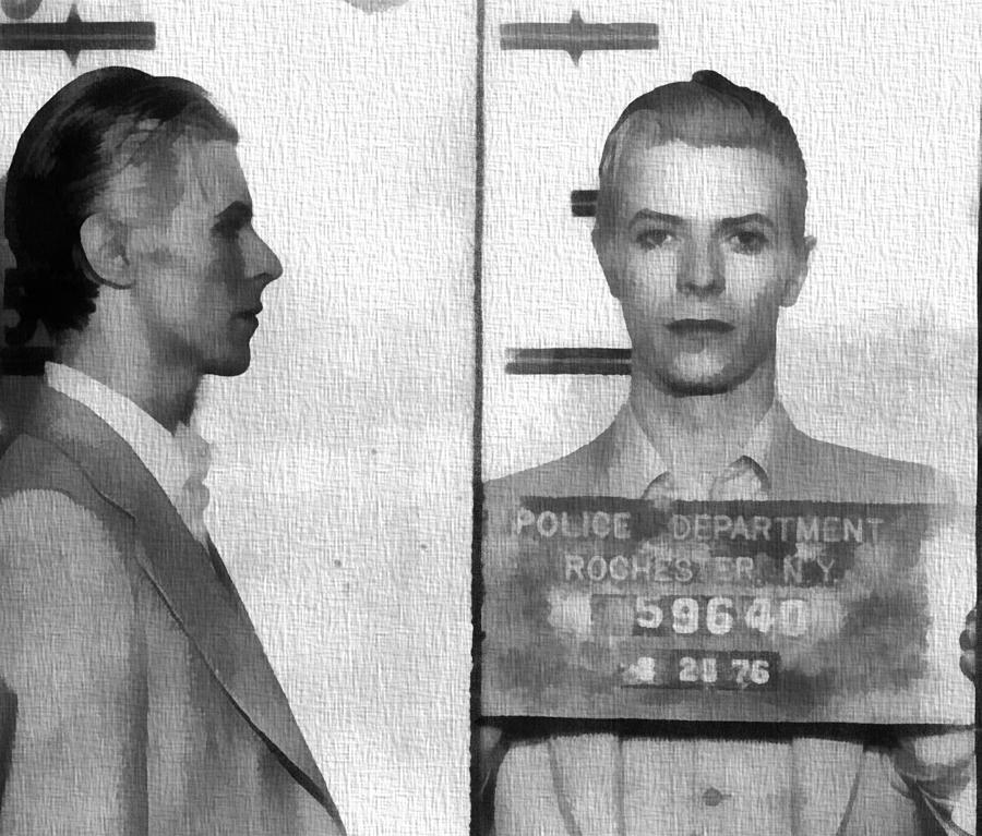 David Bowie Mug Shot Photograph