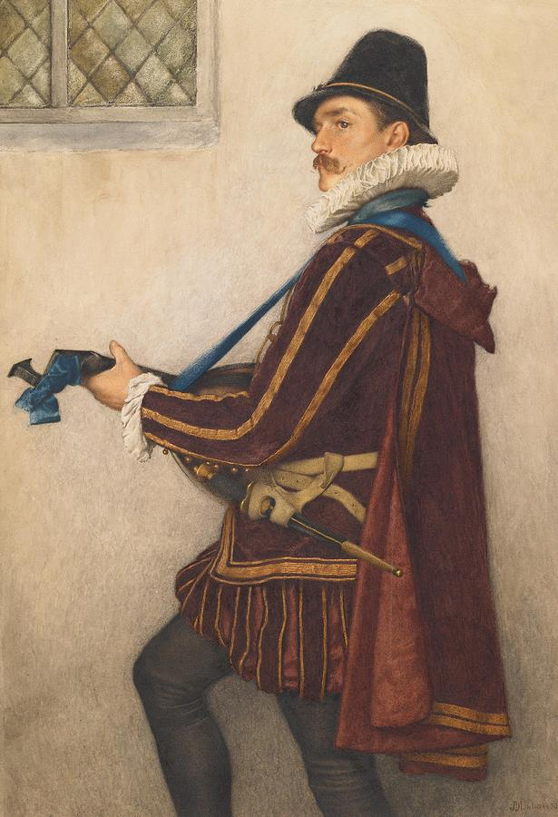 David Painting - David Rizzio by Sir James Dromgole Linton