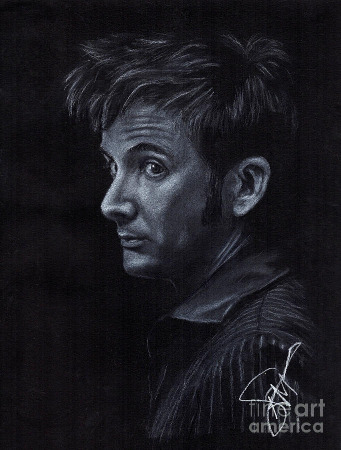David Tennant 3 Drawing  - David Tennant 3 Fine Art Print