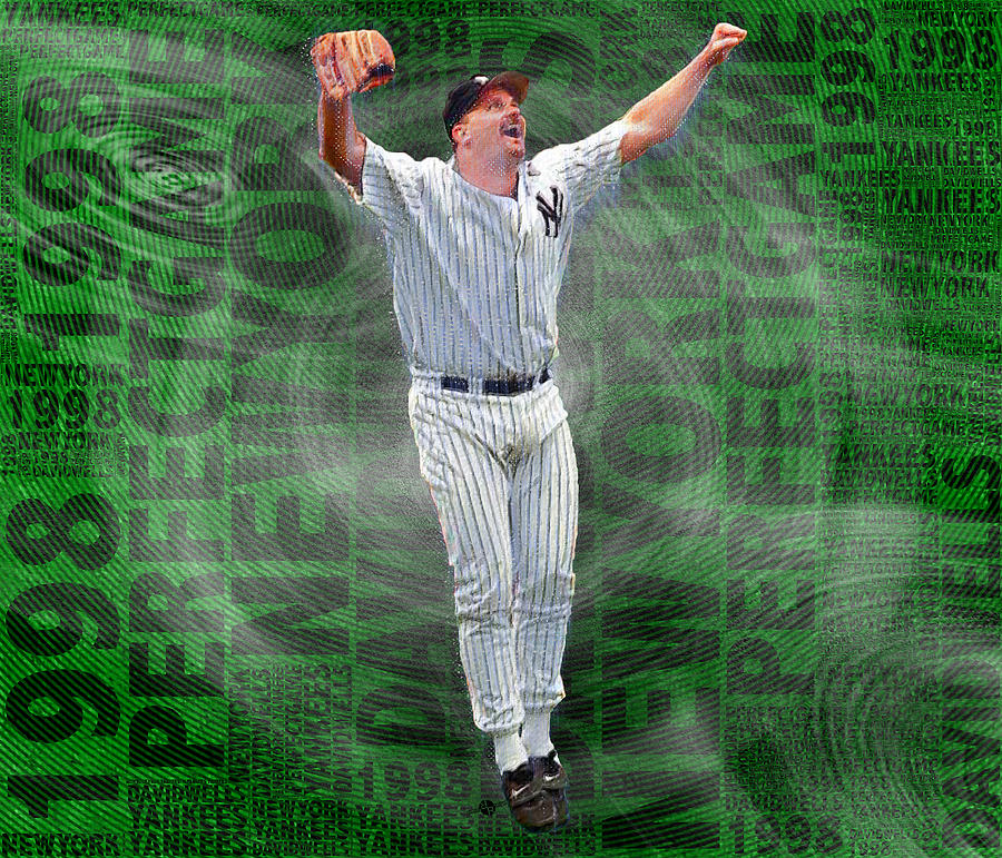 David Wells Yankees Perfect Game 1998 Painting By Tony Rubino