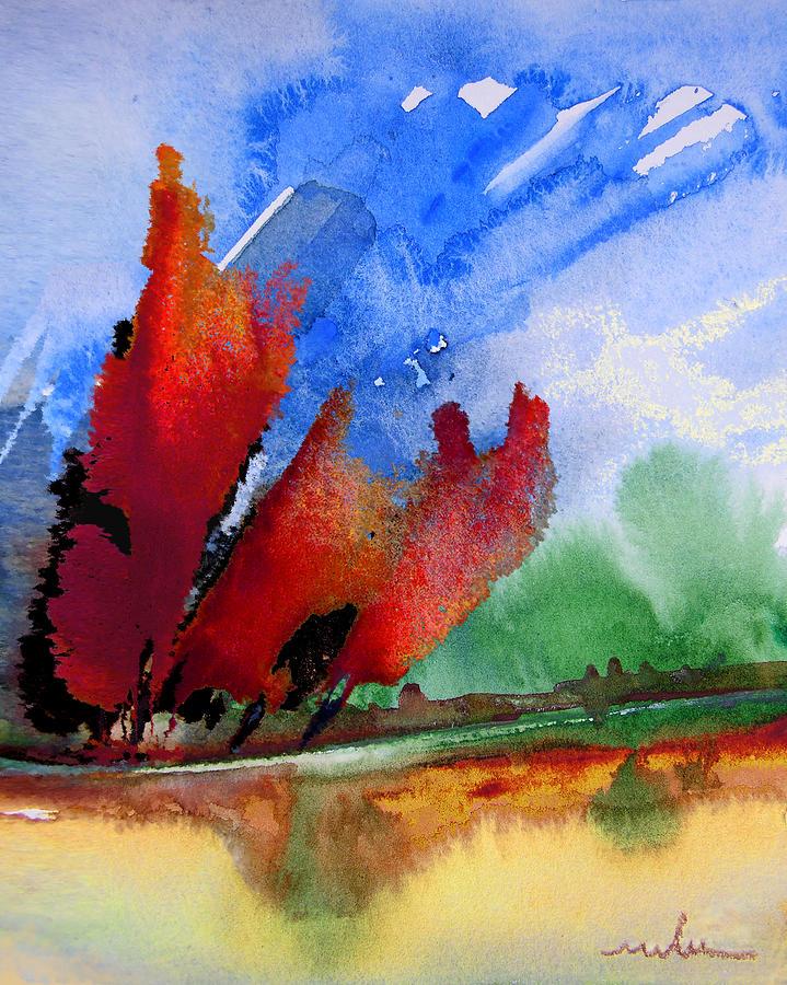 Watercolour Painting - Dawn 04 by Miki De Goodaboom
