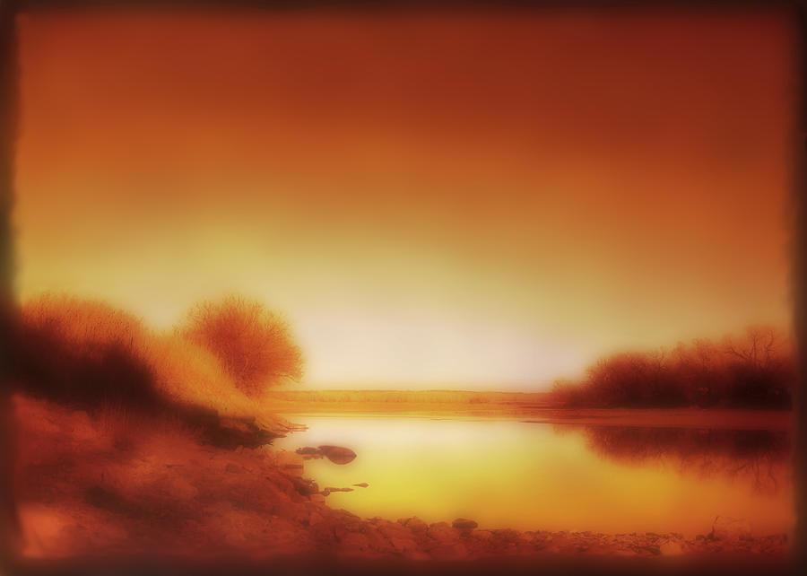 Landscape Photograph - Dawn Arkansas River by Ann Powell