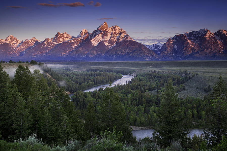 Dawn Over The Tetons Photograph