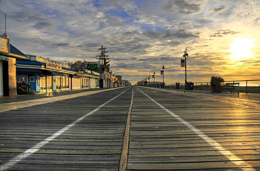 Ocean City Boardwalk Photograph - Dawning Of A New Day by Dan Myers