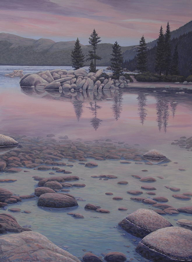 Landscape Painting - Dawns Stillness by James English Babcock