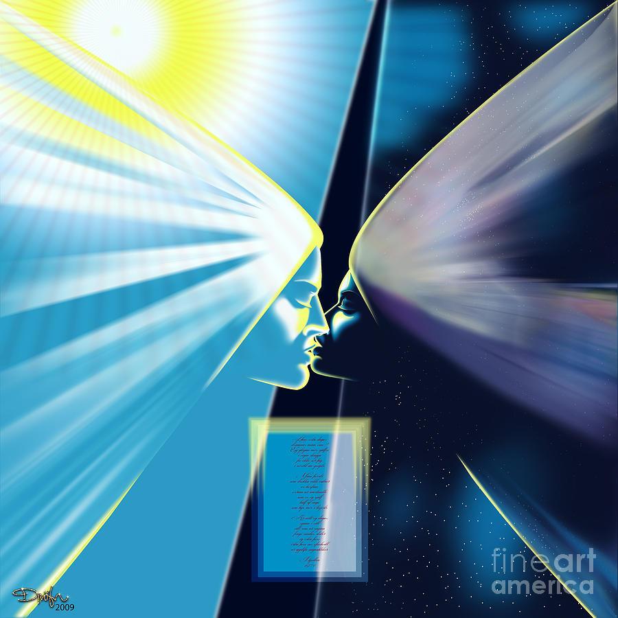 Day And Night Last Kiss Digital Art