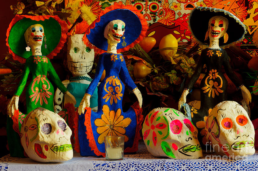 Day of the dead decorations photograph by john shaw for Day of the dead craft supplies