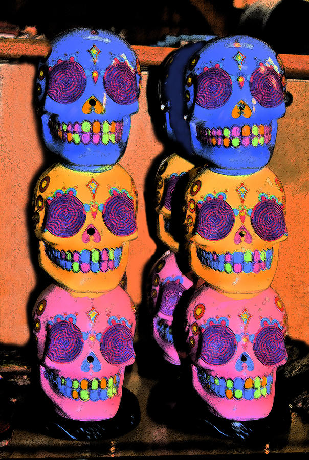 Day Of The Dead Ink Digital Art