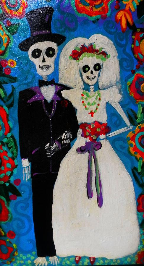 Day Of The Dead Wedding Painting  - Day Of The Dead Wedding Fine Art Print