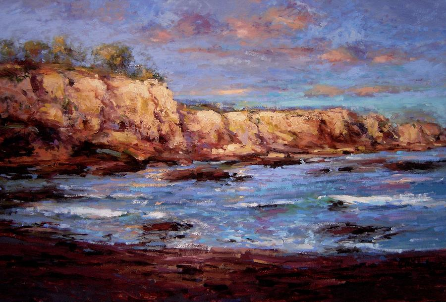 Daybreak At Montana De Oro Beach Painting  - Daybreak At Montana De Oro Beach Fine Art Print