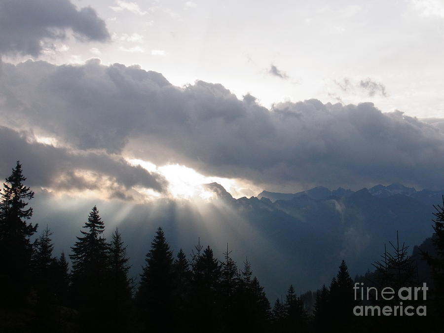 Daybreak Over Lepontine Alps Photograph  - Daybreak Over Lepontine Alps Fine Art Print