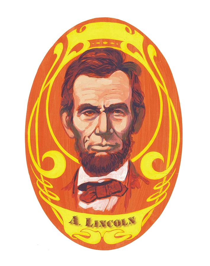 Dayglow Lincoln Painting  - Dayglow Lincoln Fine Art Print