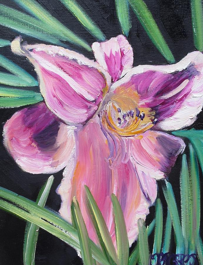 Flowers Painting - Daylily by Melissa Torres