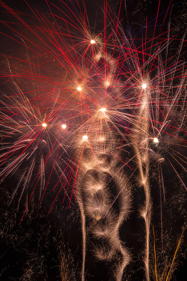 Dazzling Photograph - Dazzling Fireworks by Garry Gay