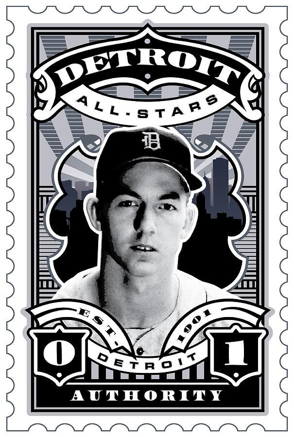 Dcla Al Kaline Detroit All-stars Finest Stamp Art Digital Art