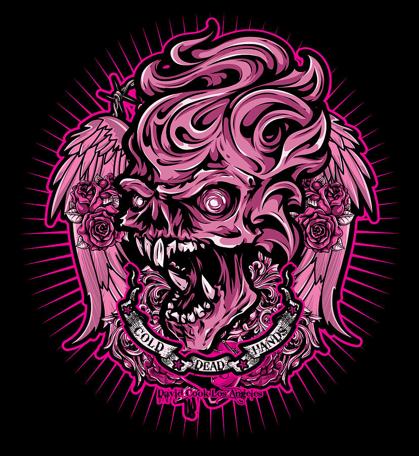 Dcla Cold Dead Hand Zombie Pink 2 Digital Art