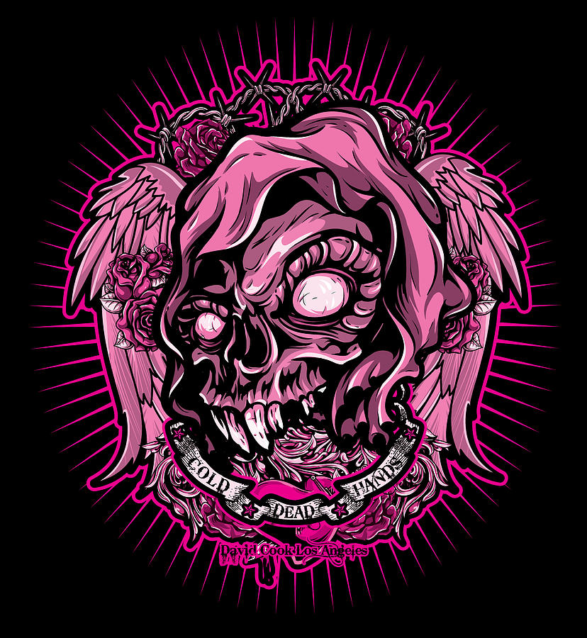 Dcla Digital Art - Dcla Cold Dead Hand Zombie Pink 3 by David Cook Los Angeles