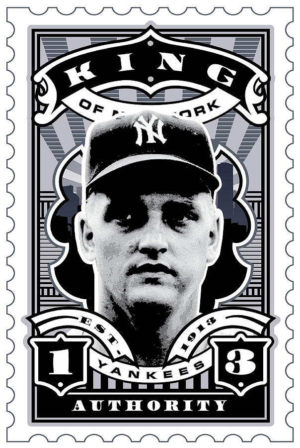 Dcla Roger Maris Kings Of New York Stamp Artwork Digital Art  - Dcla Roger Maris Kings Of New York Stamp Artwork Fine Art Print