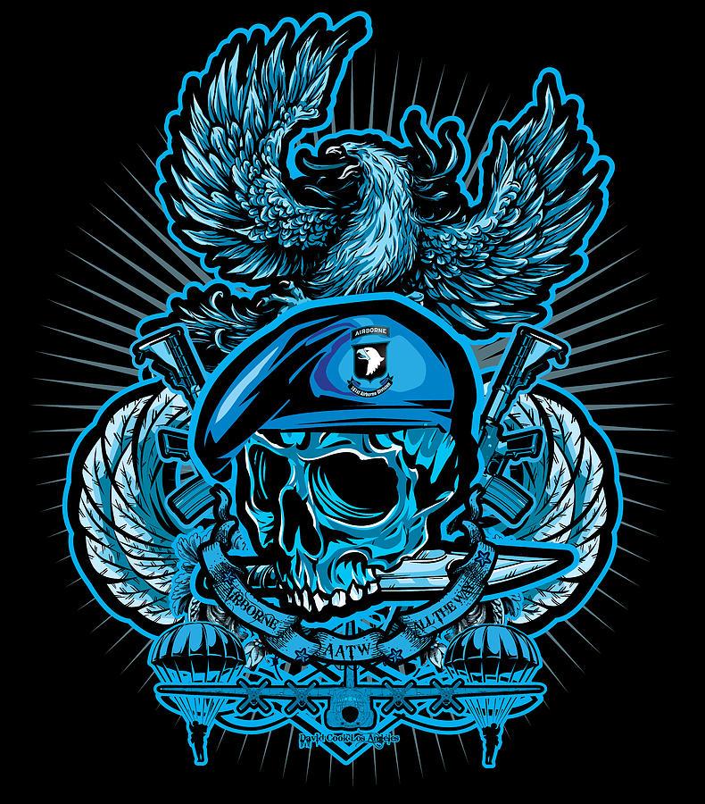 Dcla Skull Airborne All The Way Digital Art
