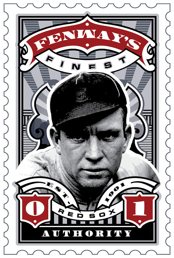 Dcla Tris Speaker Fenways Finest Stamp Art Digital Art