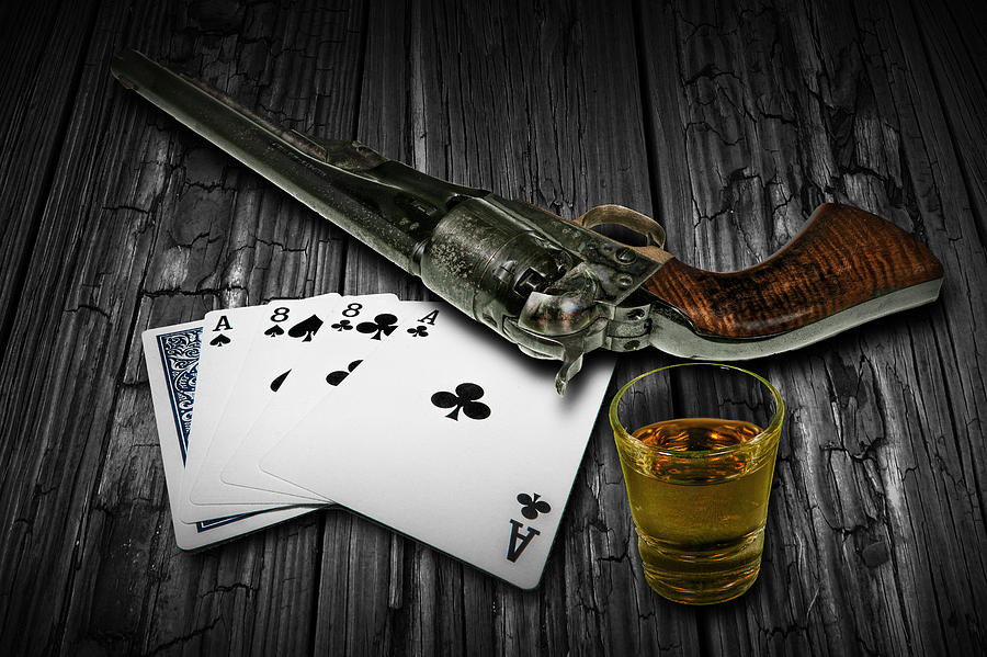 dead mans hand aces and eights art