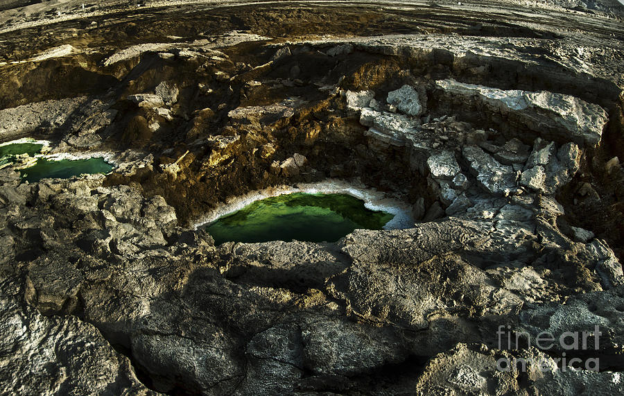 Dead Sea Sink Holes Photograph