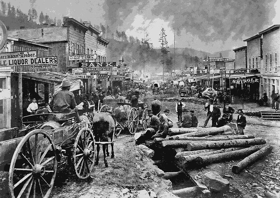 Deadwood South Dakota C. 1876 Digital Art  - Deadwood South Dakota C. 1876 Fine Art Print