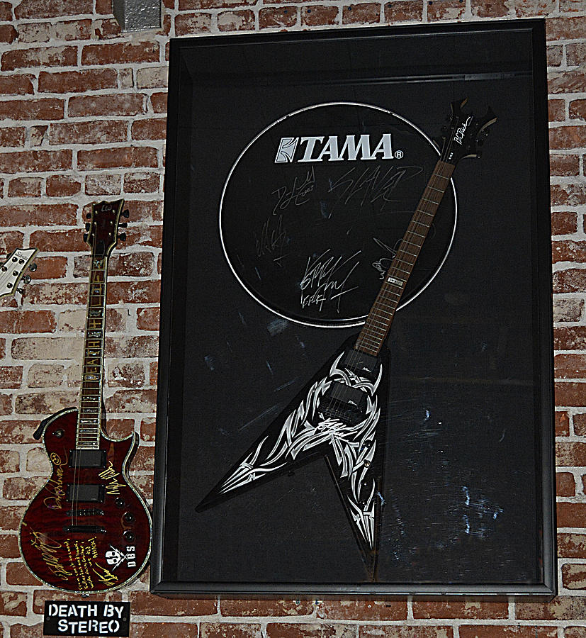 Death By Stereo Band Memorabilia-autographed Guitar Photograph  - Death By Stereo Band Memorabilia-autographed Guitar Fine Art Print