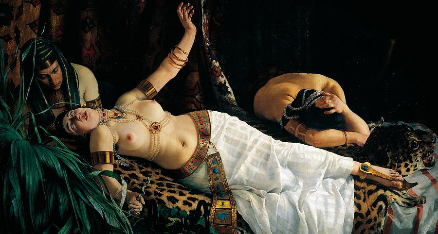 Painting Painting - Death Of Cleopatra by Achilles Glisenti