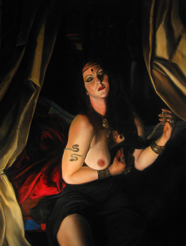 Cleopatra Art Painting - Death Of Cleopatra by Eric  Armusik