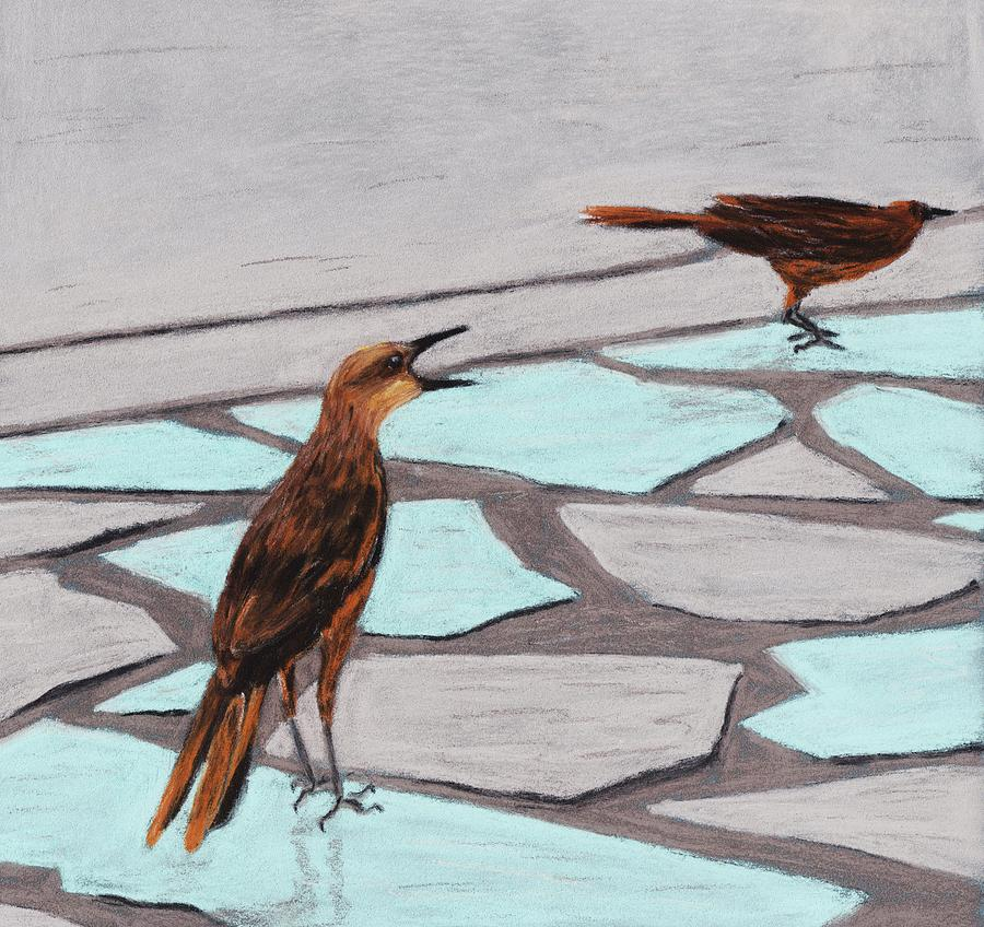 Death Valley Birds Painting