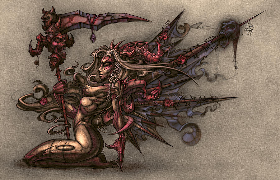 Fantasy Digital Art - Deaths Angel by David Bollt