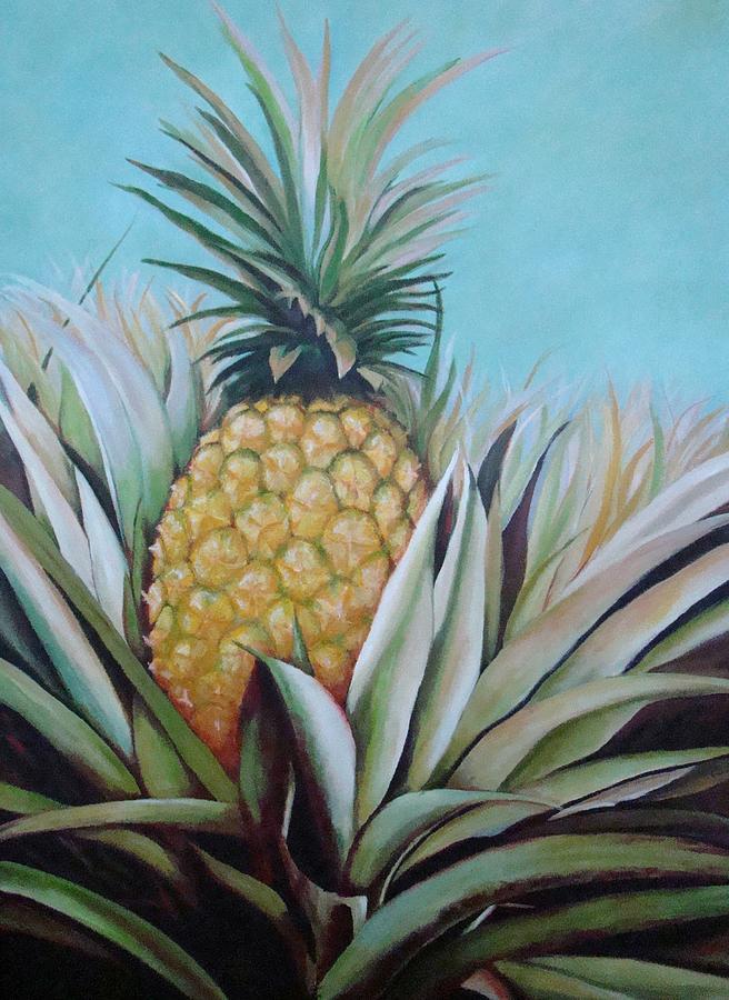 Pineapple. Landscape Painting - Debutante by Migdalia Bahamundi