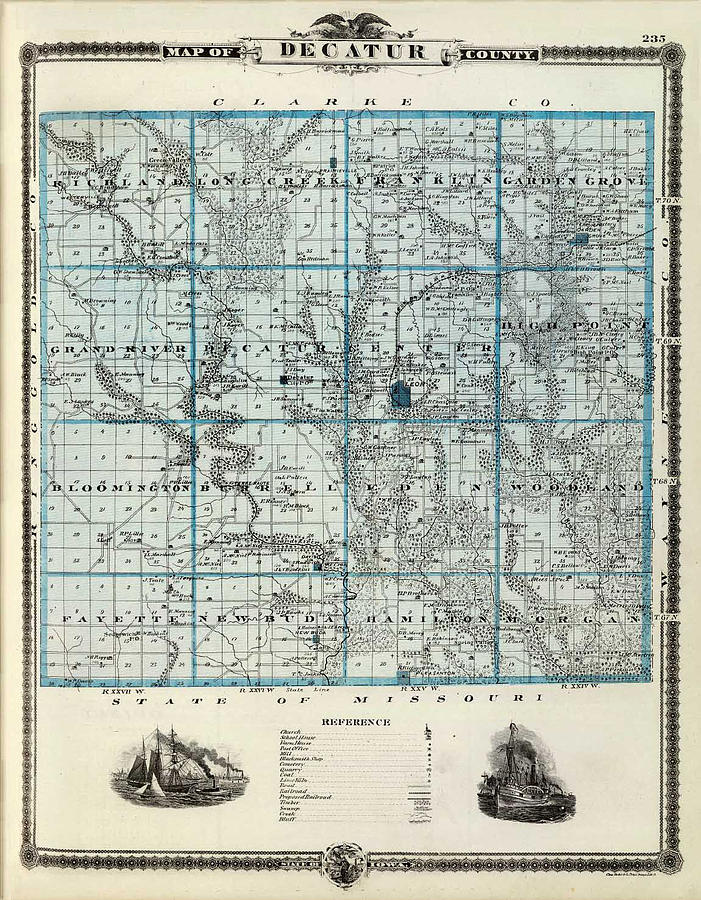 Decatur County Map Photograph