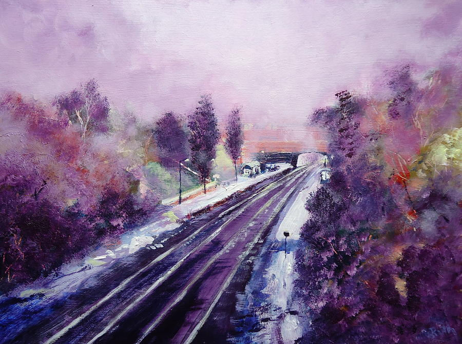 December At Belper Train Station Painting