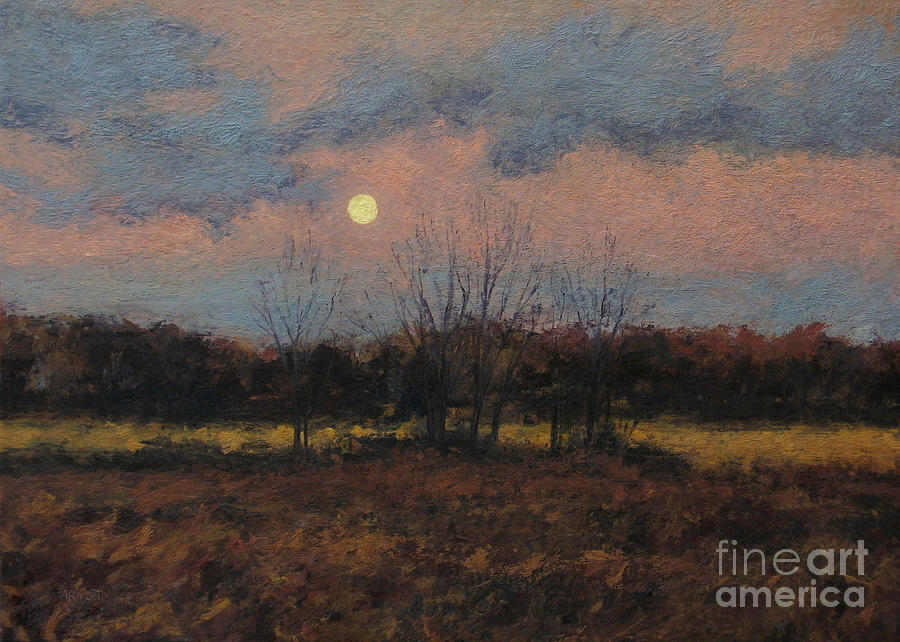 December Moon Painting  - December Moon Fine Art Print