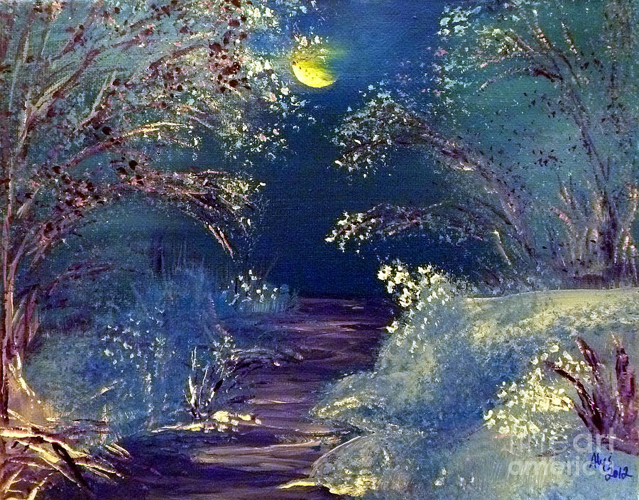 December Night Painting  - December Night Fine Art Print
