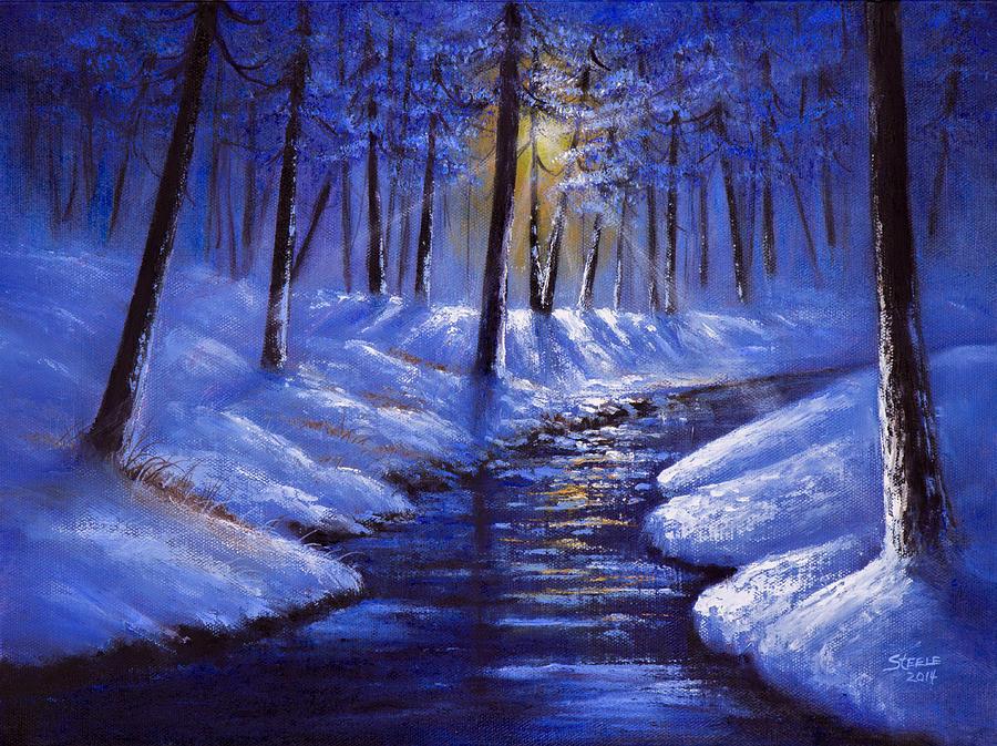 December Sunrays Painting