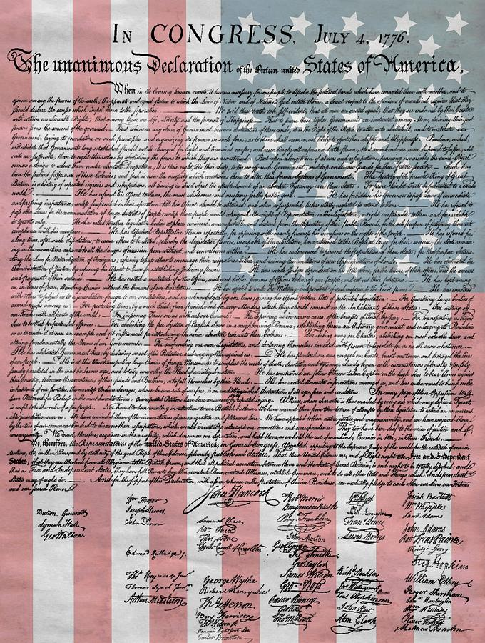 Declaration Of Independence Mixed Media - Declaration Of Independence by Dan Sproul