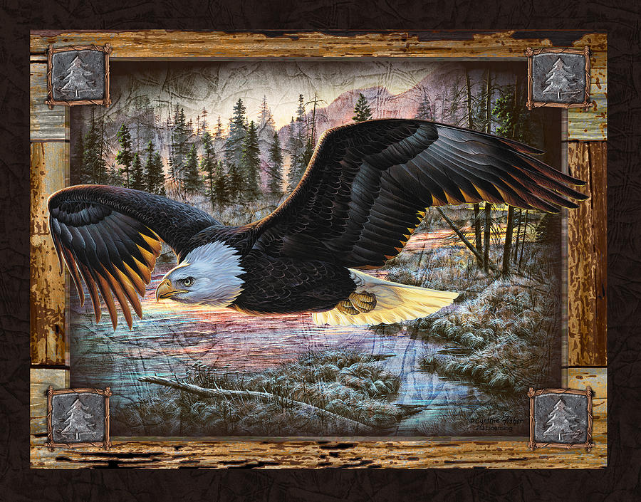 Deco Eagle Painting  - Deco Eagle Fine Art Print
