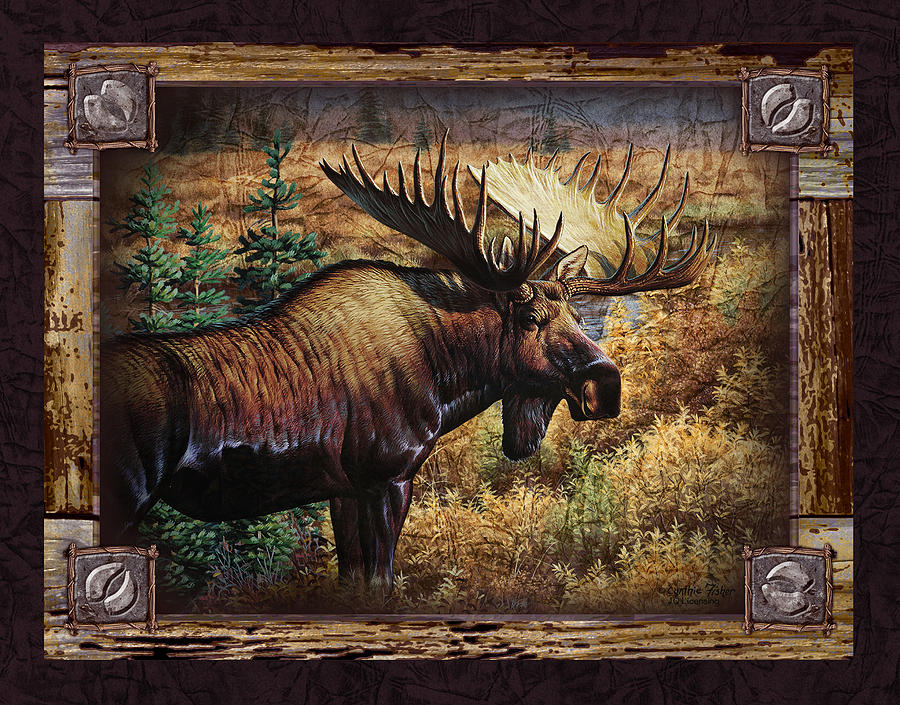 Deco Moose Painting  - Deco Moose Fine Art Print