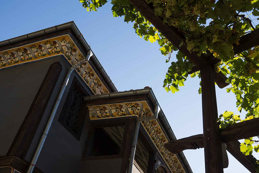 Decorated Eaves And Grapes Trellis - Old Town Plovdiv Bulgaria Photograph